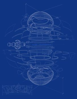 Pokeball Blueprint by iviarker