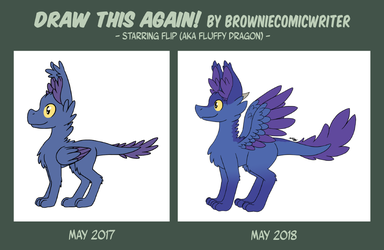 Draw This Again! - Fluffy Dragon Edition by BrownieComicWriter