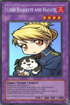 Riza and Hayate Card by SpellboundFox
