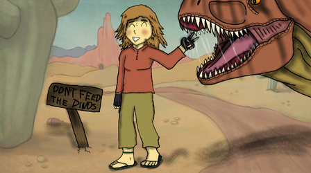 Don't feed the Dinos! by JurassicJuan