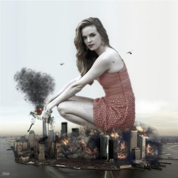 Giantess Danielle Panabaker - Trampling Manhattan by GiantessStudios101