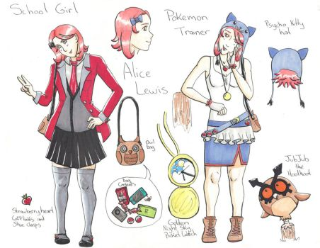 Alice Lewis - Pokemon Trainer OC Profile by Sugar-Senshi