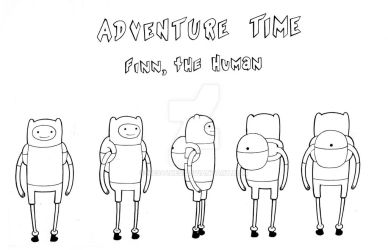 Finn, The Human: Model Sheet Turn-around by Nes44Nes