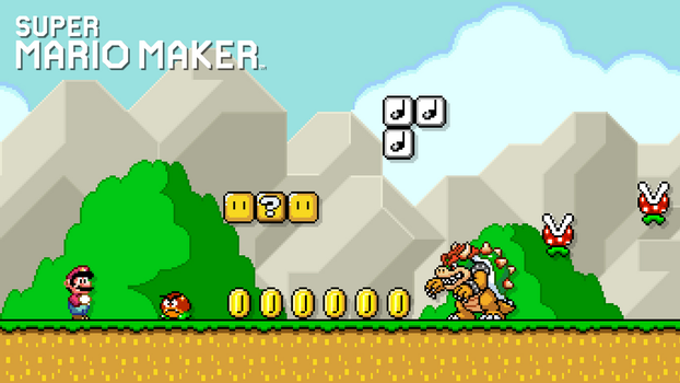 My Super Mario Maker Wallpaper by Warey102