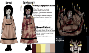 The girl who carries a candle (Creepypasta oc ref) by Cursed-Girl