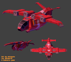 Outworld dropship WIP 2 by molegato