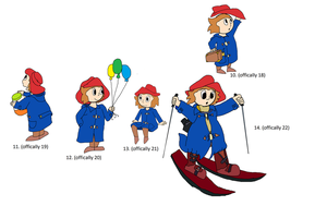 Humanised Paddington Bear 3 by OffClaireBlue2001