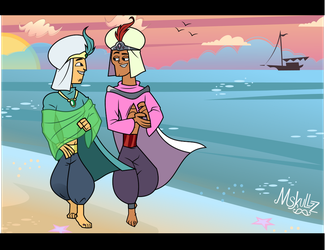Art Commission-Princes By the Sea by MegaMovieMonday