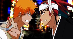 Ichigo and Renji by XubeiX