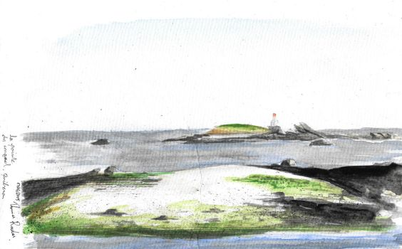 Aquarelle Quiberon by TAHR-Thomas-Radas