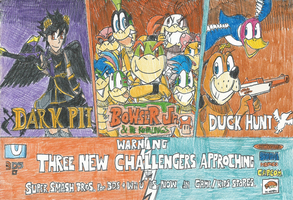 SSB4: SPOILERS!! Three New Challengers Approching by FTFTheAdvanceToonist