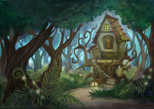House of  forest witch by stasiyaalexandrova