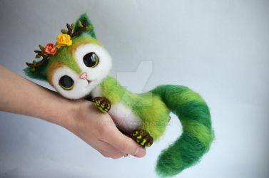 Author Cat Needle Felted Mia 6 of 7 by Lyntoys