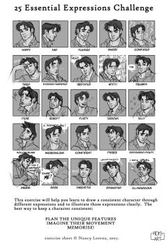 25 Essential Expressions: Alan by FidisART