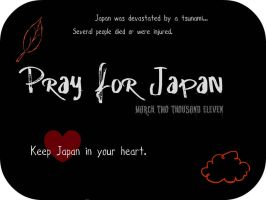 Pray For Japan by xBelisaria