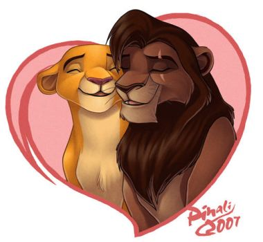 Kovu and Kiara by pinali