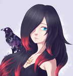 Gravity Raven and her Crow by NekoRikaChan