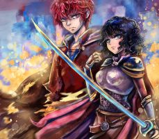 Agni and Wrenn by Arenheim