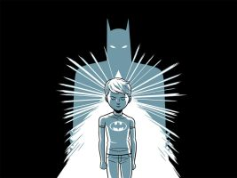 A Boy and His Batman by dryponder