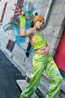 Jolyne Kujo and Stone Free by Karumen-Chan