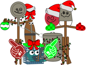 FNAF - The Trash Pack's Early Christmas by domobfdi