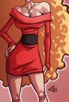 Miss Bellum Commission by G-Chris