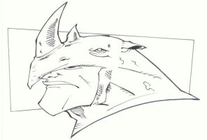 sketchy : Rhino by KidNotorious