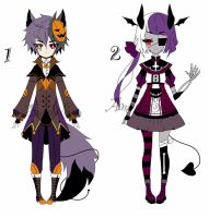 special halloween Adoptable Batch CLOSED by AS-Adoptables