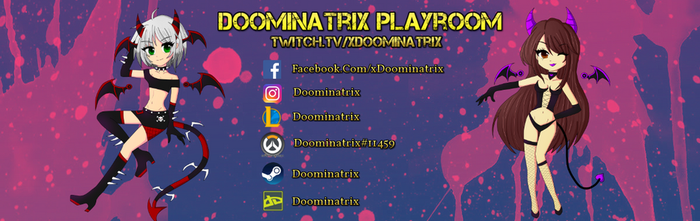 Twitch Banner by Doominatrix
