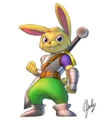 Rabbit Warrior by Pak009