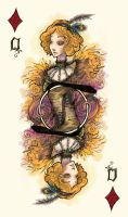 Queen of Diamonds by Ink-Yami