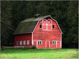 Big Red Barn by Adaera
