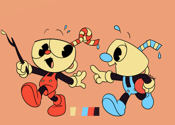 Color Palette Challenge: Lil' Cuphead Kids by crazyazzy180