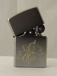 Luna engraved on a zippo lighter by tiwake