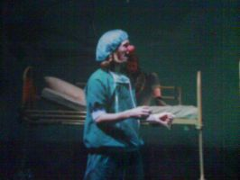 me as an clown in a play by dragon-pinguin