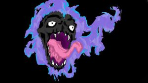 Realistic Gastly. Colored