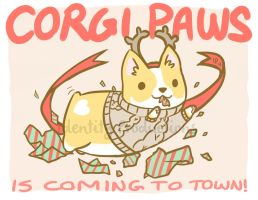 Corgi Paws is Coming to Town! by IdentityPolution