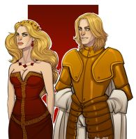 Lannister twins by Enife