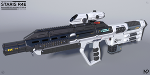 [SketchUp] Staris R4E EM-Assisted Assault Rifle by MikePrivius