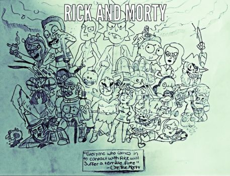 Rick and Morty by CatDogHeffer