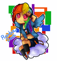 MLP FIM Humans: Rainbow Dash by GeekyKitten64