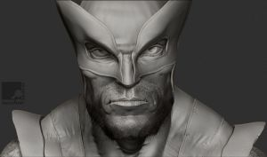 Wolverine Bust by nachoriesco