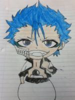 Chibi GrimmJow Colored by Wild-BlueJay