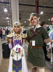 Link and Zelda Cosplay [Anime North 2014] by hailstormnightmare