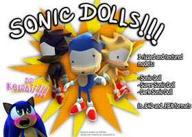 Sonic Dolls + DOWNLOAD LINK!!! by mateus2014