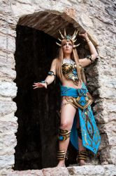 Bronze Dragon Queen_ Who want my time? by CalipsoCosplay