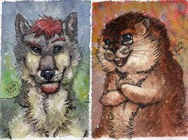 t-townwolf Badges by Zhiibe
