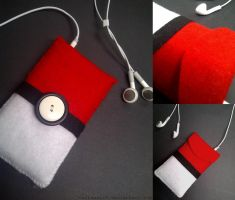 Pokeball iPod Cozy by CaitxxSith
