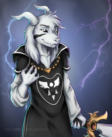 Asriel God Of Hyperdeath by Extremol
