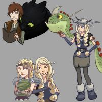 HTTYD sketches by gabzillaz